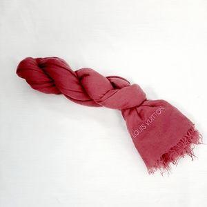 Louis Vuitton authentic 100% cashmere pink stole